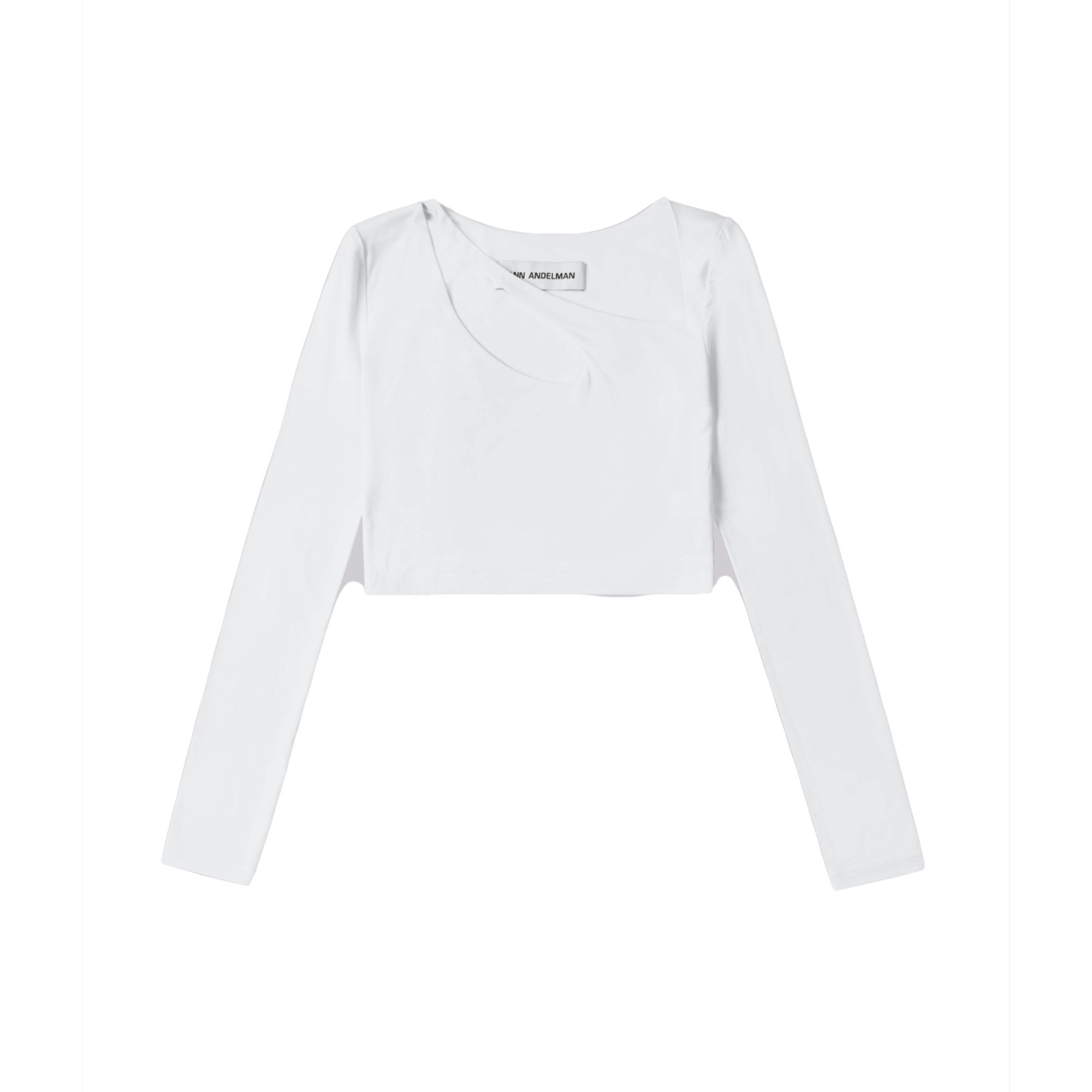ANN ANDELMAN White U-Neck Top | MADA IN CHINA