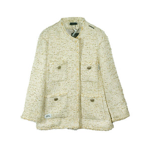 ONOFFON White Woven Lead Jacket | MADA IN CHINA