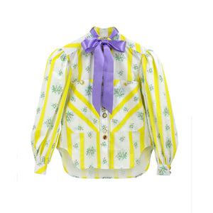 MOTOGUO Yellow BedSheet Shirt | MADA IN CHINA