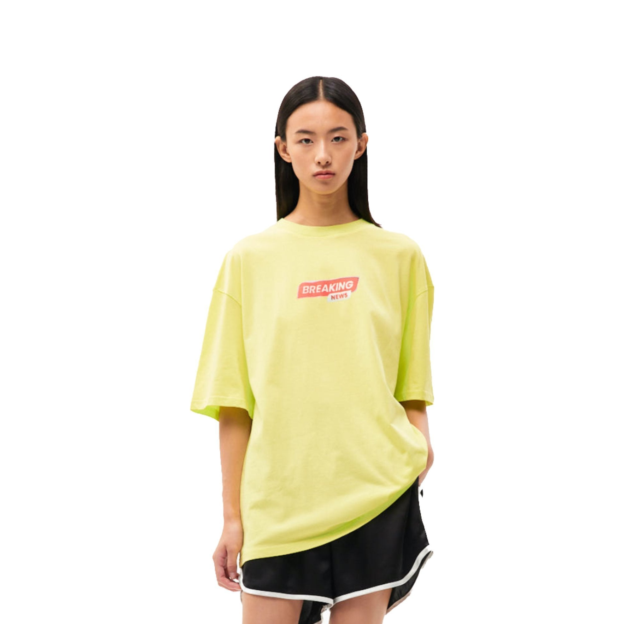 ANN ANDELMAN Yellow Breaking News Tee | MADA IN CHINA