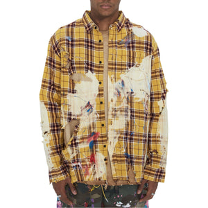 SAINT LOUIS Yellow Destroyed Painter Shirt | MADA IN CHINA