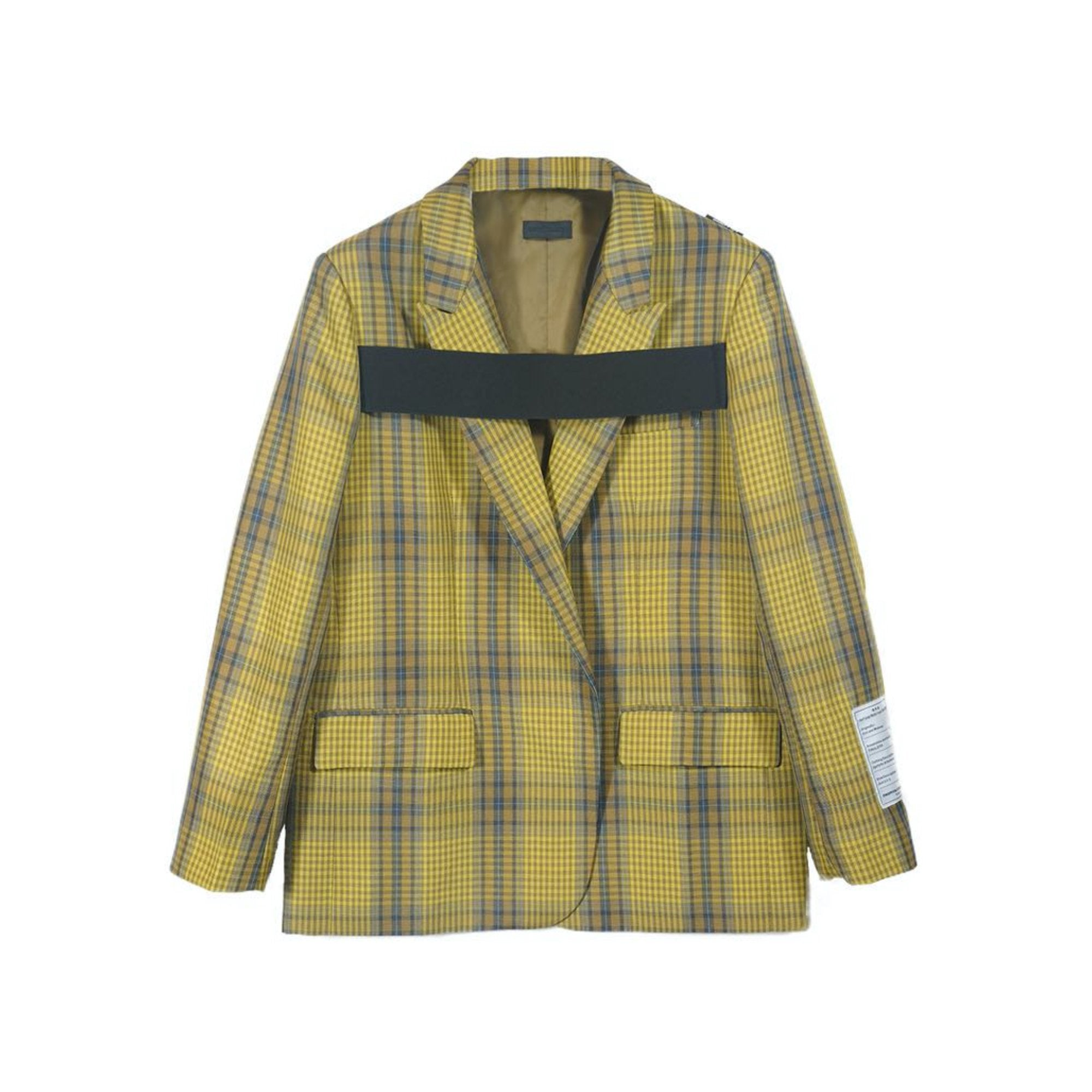 ONOFFON Yellow Plaid Jacket | MADA IN CHINA