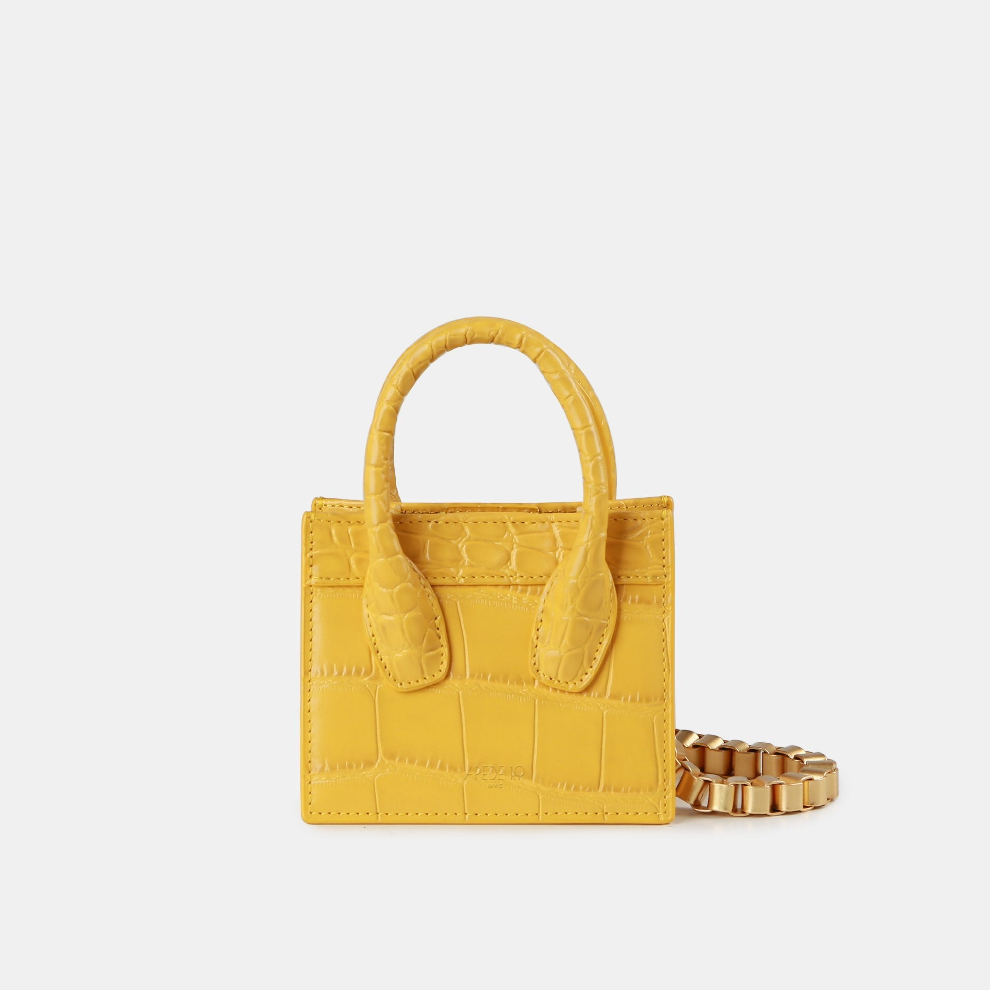 APEDE MOD Yellow Poker Face Mini Tote | MADA IN CHINA