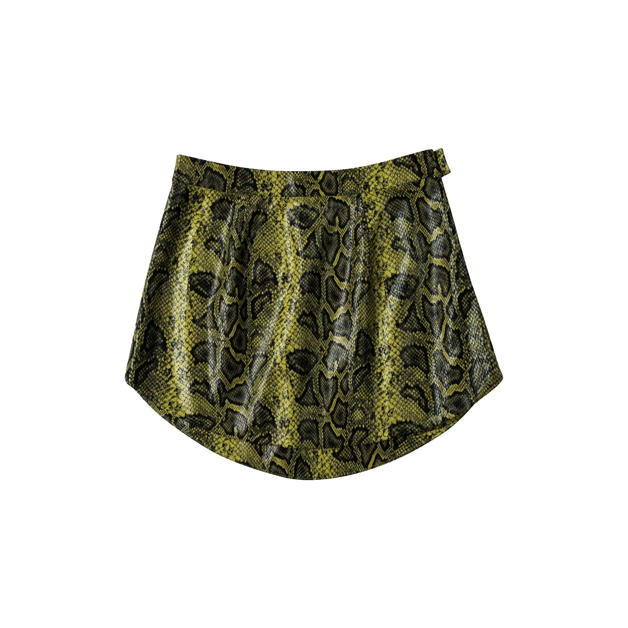 ANN ANDELMAN Yellow Serpentine Skirts | MADA IN CHINA