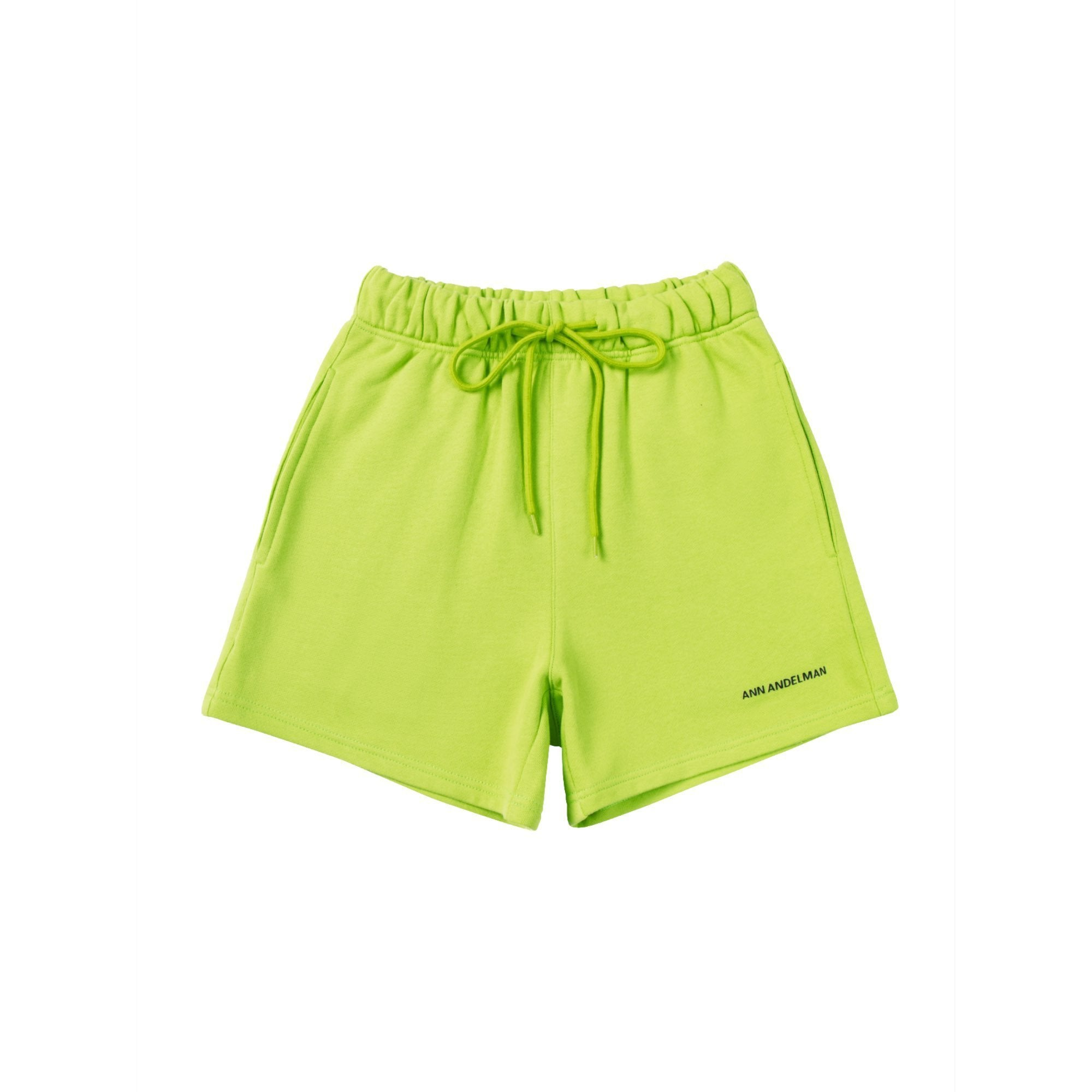 ANN ANDELMAN Yellow Small Logo Shorts | MADA IN CHINA