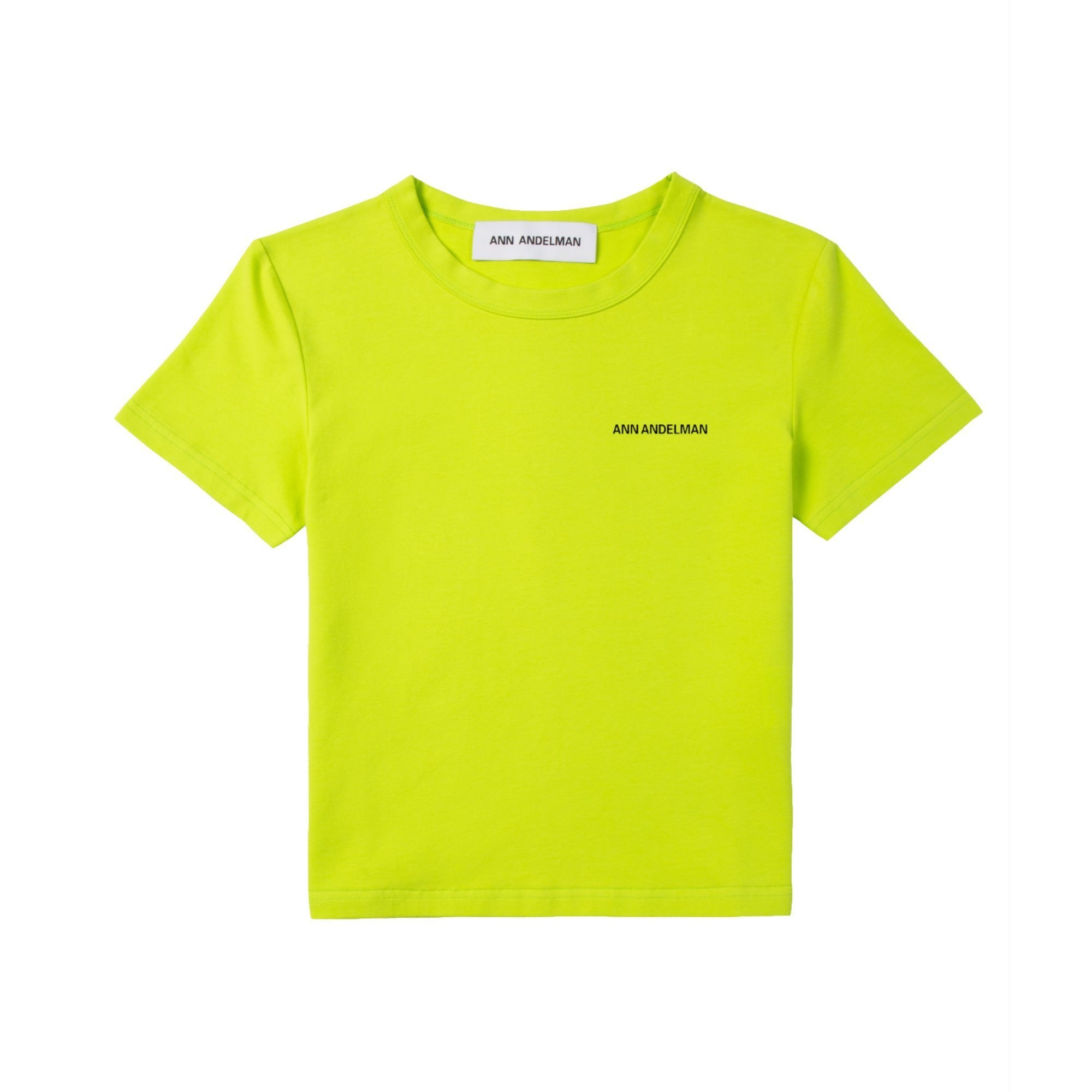 ANN ANDELMAN Yellow Small Logo Tee | MADA IN CHINA