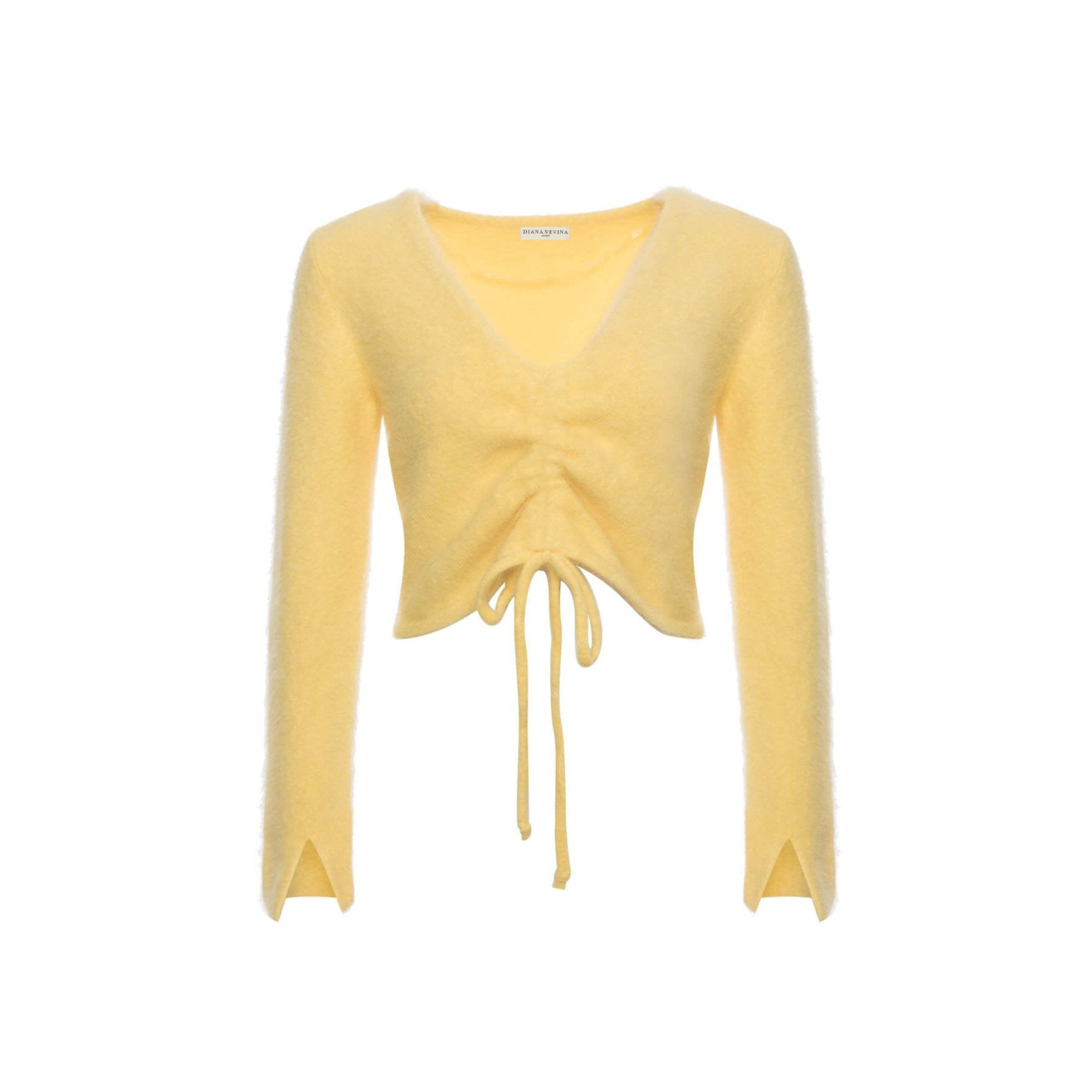 DIANA VEVINA Yellow Strip Sweatshirt | MADA IN CHINA