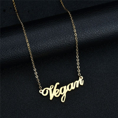 "Zinc Alloy ""Letters"" Necklace"