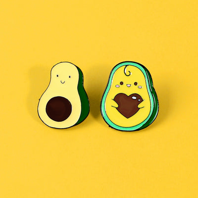 Avocado Enamel Pin (2-Piece)