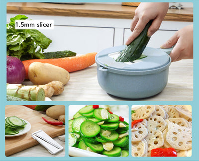 8-In-1 Vegetable Peeling Slicer w/Strainer - LookVegan