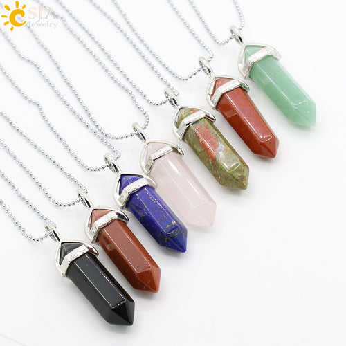 Women Natural Stone Pendant Necklace - Global Shipping - Use THANKYOU for 20% off Entire Order.