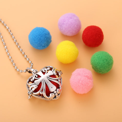 Cross Love Heart Aromatherapy Sweat Necklace (w cotton balls) - Global Shipping - Use THANKYOU for 20% off Entire Order.
