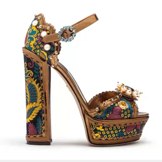 Ohemaa Colorful Jewel Sandals