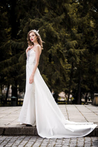 Wedding dress, ivory, satin