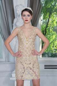 Ewa Stepaniuk Couture, Wedding, evening,  gold lace dress, stunning, gown, haute couture, designer, exclusive, luxury