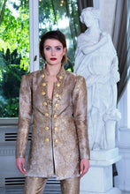 Load image into Gallery viewer, Ewa Stepaniuk Couture, Wedding, evening, golden suit, stunning, gown, haute couture, designer, exclusive, luxury, Swarovski crystals,  luxurious wedding, Platinum Palace Hotel Wrocław
