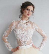 Load image into Gallery viewer, Ewa Stepaniuk Couture, Wedding, evening, lace body princess wedding dress, stunning, gown, haute couture, designer, exclusive, luxury, Swarovski crystals,  luxurious wedding, Platinum Palace Hotel Wrocław