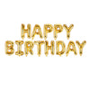 "Happy Birthday 17"" Foil Balloon - Gold"