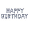 "Happy Birthday 17"" Foil Balloon - Silver"