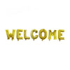 "Welcome 17"" Foil Balloon - Golden"