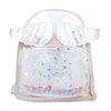 Fancy Glitter Star Backpack For Kids - White (BP-15)