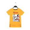 Mulan Printed T-Shirt For Girls - Orange (BTS-035)