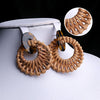 Antique Round Shape Earrings - Brown (ER-52)