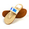 Casual Ethnic Slippers For Girls - Beige (JF-5)