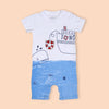 Printed Romper For Boy - White (2850)