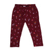 Flowers Tights For Girls - Maroon (GT-032)