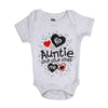 Aunty Loves Me Romper For Unisex - White (IS-28)