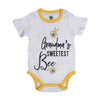 Grandma's Bee Romper For Unisex - White (IS-26)