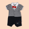 Fancy Romper For Boys - Grey (1215)