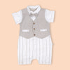 Fancy Romper For Boys - Beige (3089)