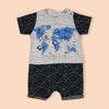 Fancy Romper For Boys - Grey (236184)
