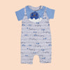 Birds Fancy Romper For Boys - Blue (1215)