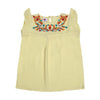Floral Embroidery Top For Girls - Lime (CT-048)