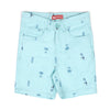 Parrot Print Cotton Short For Boys - Sky Blue (CS-009)