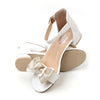 Fancy Bow Heel Sandals For Girls - White (B335-1S)