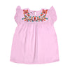 Floral Embroidery Top For Girls - Pink (CT-048)