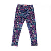 Candy Printed Tights For Girls - Navy (GT-024)