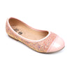 Glitter Pumps For Girls - Peach (SP-15)