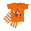 Axivator 2 PCs Suit For Boys - Orange (SB-027)