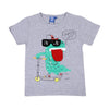 What's Up T-Shirt For Boys - Gray (BTS-038)
