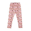 Flowers Printed Tights For Girls - Pink (GT-025)