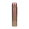 Fancy Stainless Steel Water Bottle 600ml - Rose Gold (8386)