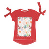 Sequin Fruit T-Shirt For Girls - Red (BTS-036)