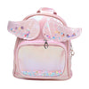 Fancy Glitter Star Backpack For Kids - Pink (BP-14)