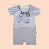 Fancy Romper For Boys - Grey (3039)