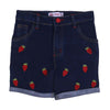 Strawberry Denim Short For Girls - Black (GS-004)
